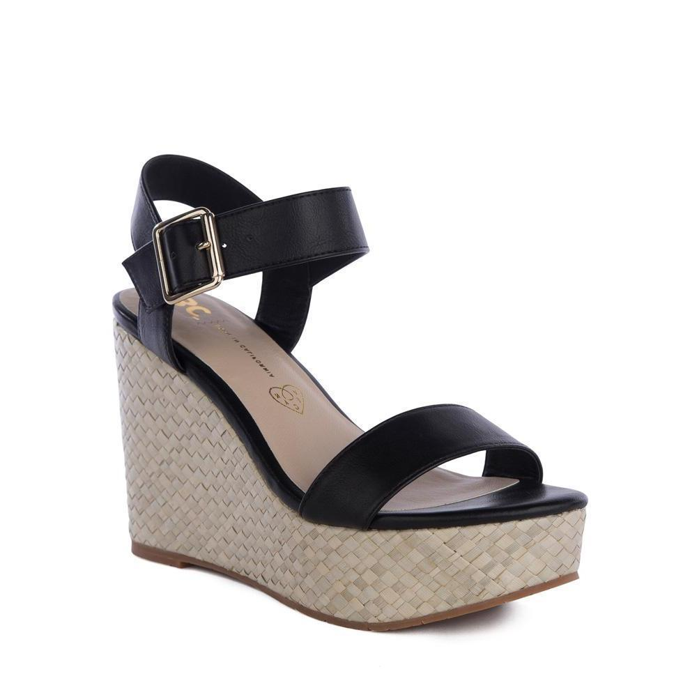 BC footwear vegan wedge sandal