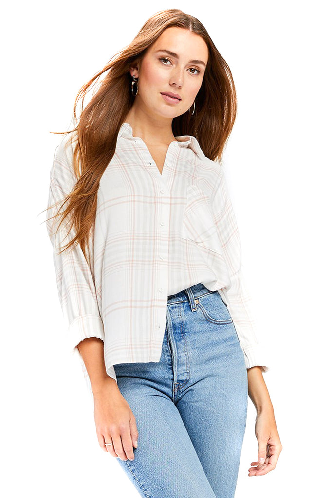 Plaid Nellie Top - Front