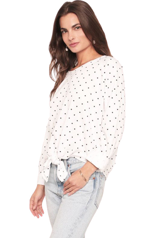 Polka Dot Isabella Sweater - Side