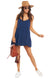 Rich Navy Caroline Mini Dress - Full Length