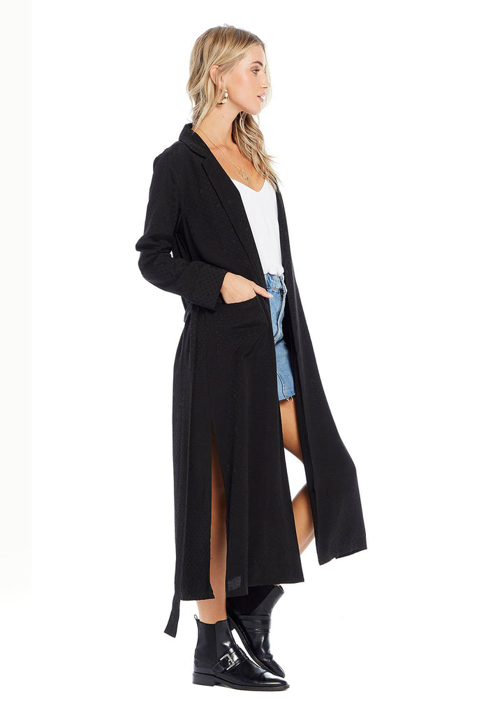 Saltwater luxe black jacquard speechless duster side photo