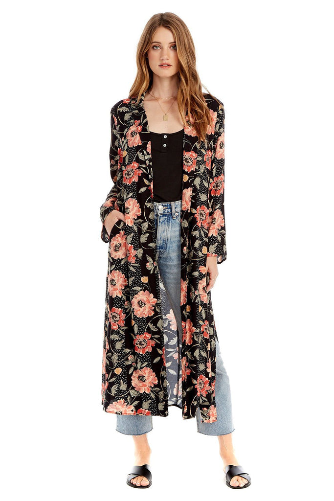 Floral Dot Emery Duster - front