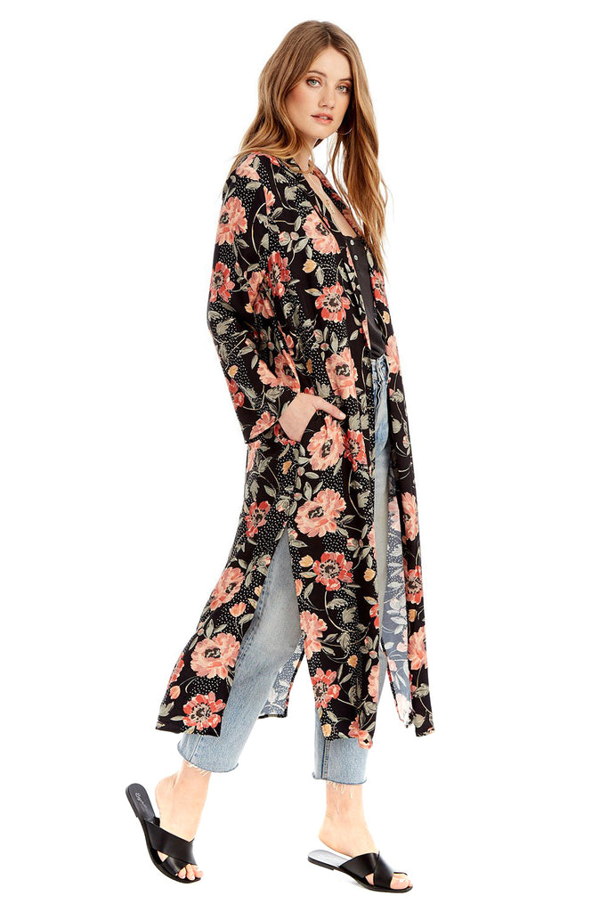 Floral Dot Emery Duster - side