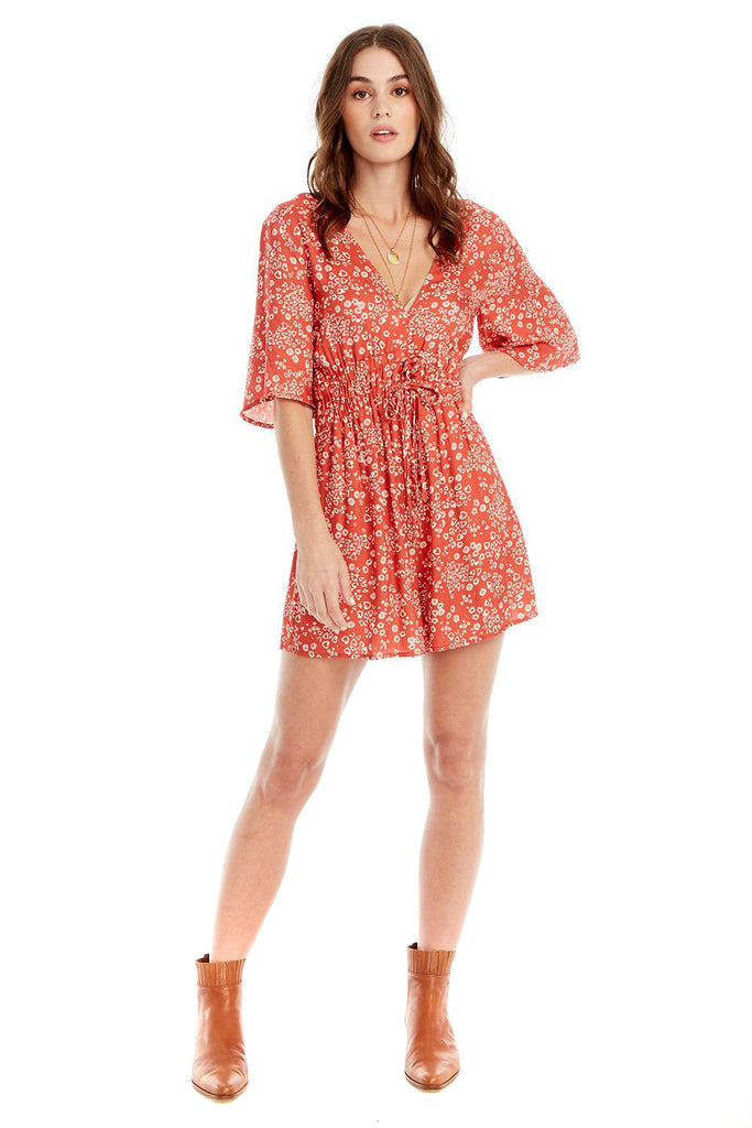 Heart Cheetah In Red Lido Romper - front