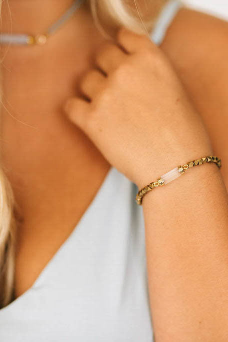 Golden Crystal Bracelet