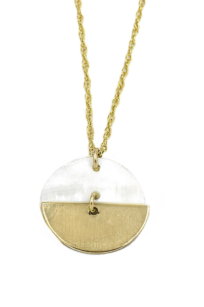 paradigm design sand and sea coin necklace