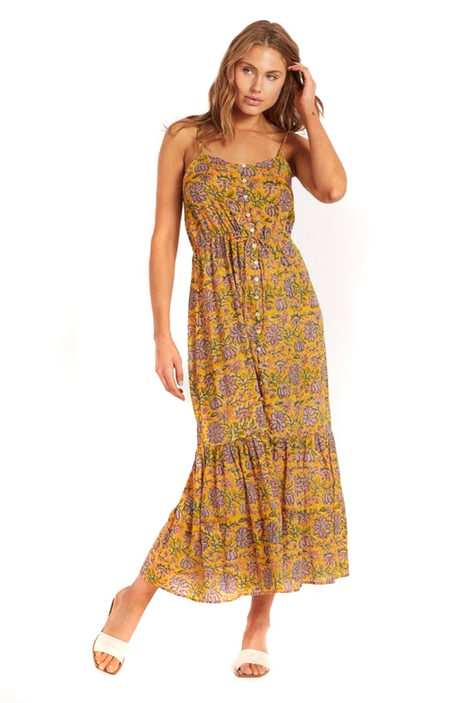 Saffron Mindy Midi Dress - front