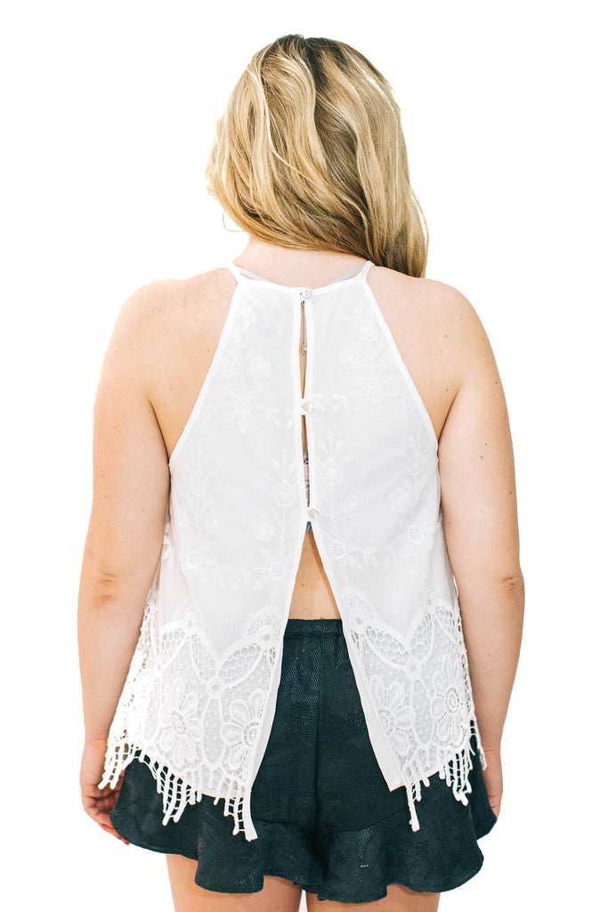 show me your mumu white lace top back photo