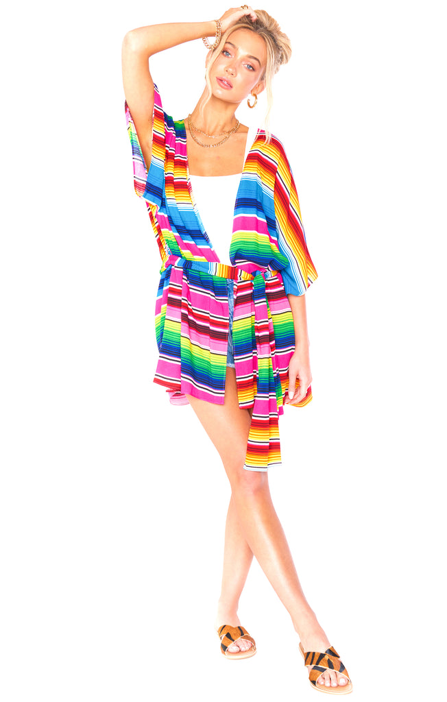 Serape Party Cloud Ryry Wrap - Front Alternate