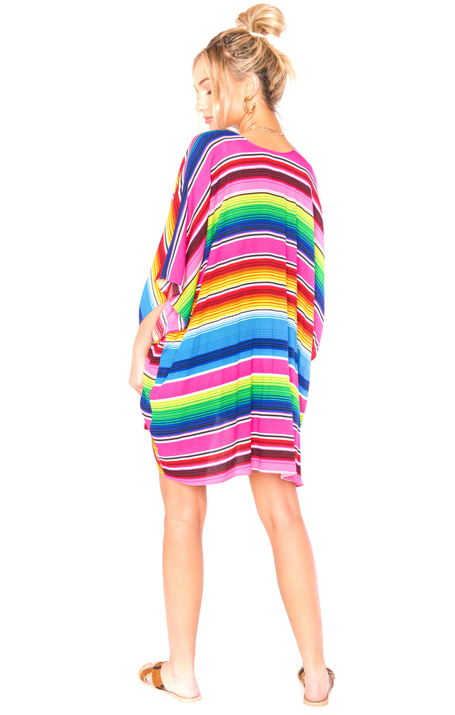 Serape Party Cloud Ryry Wrap - Back