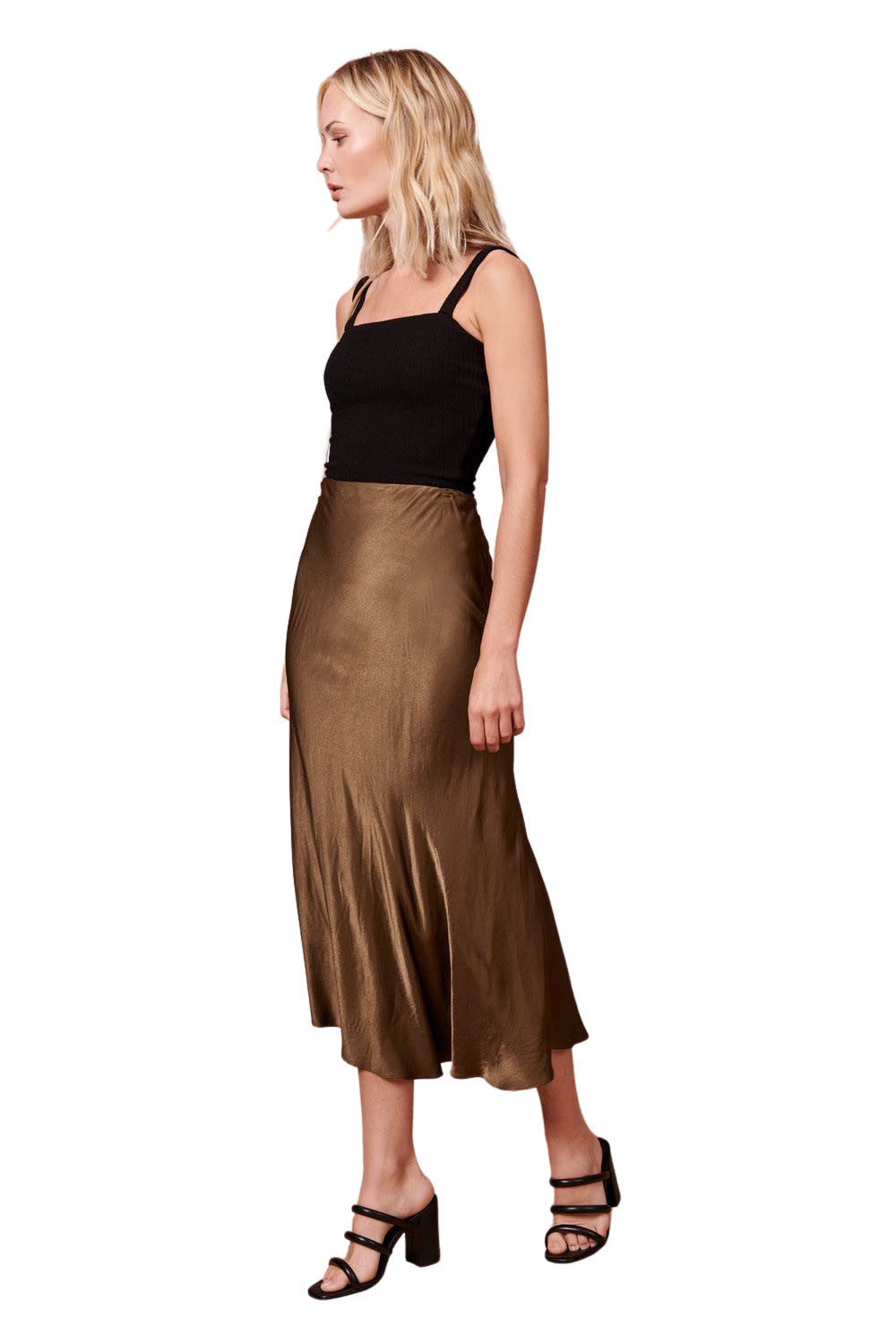 Shiny Hunter Green Diana Skirt - Side