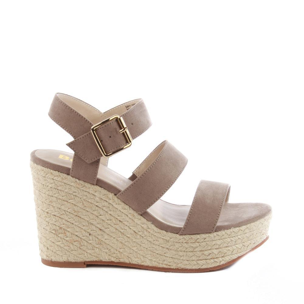 bc footwear double band taupe wedge side photo