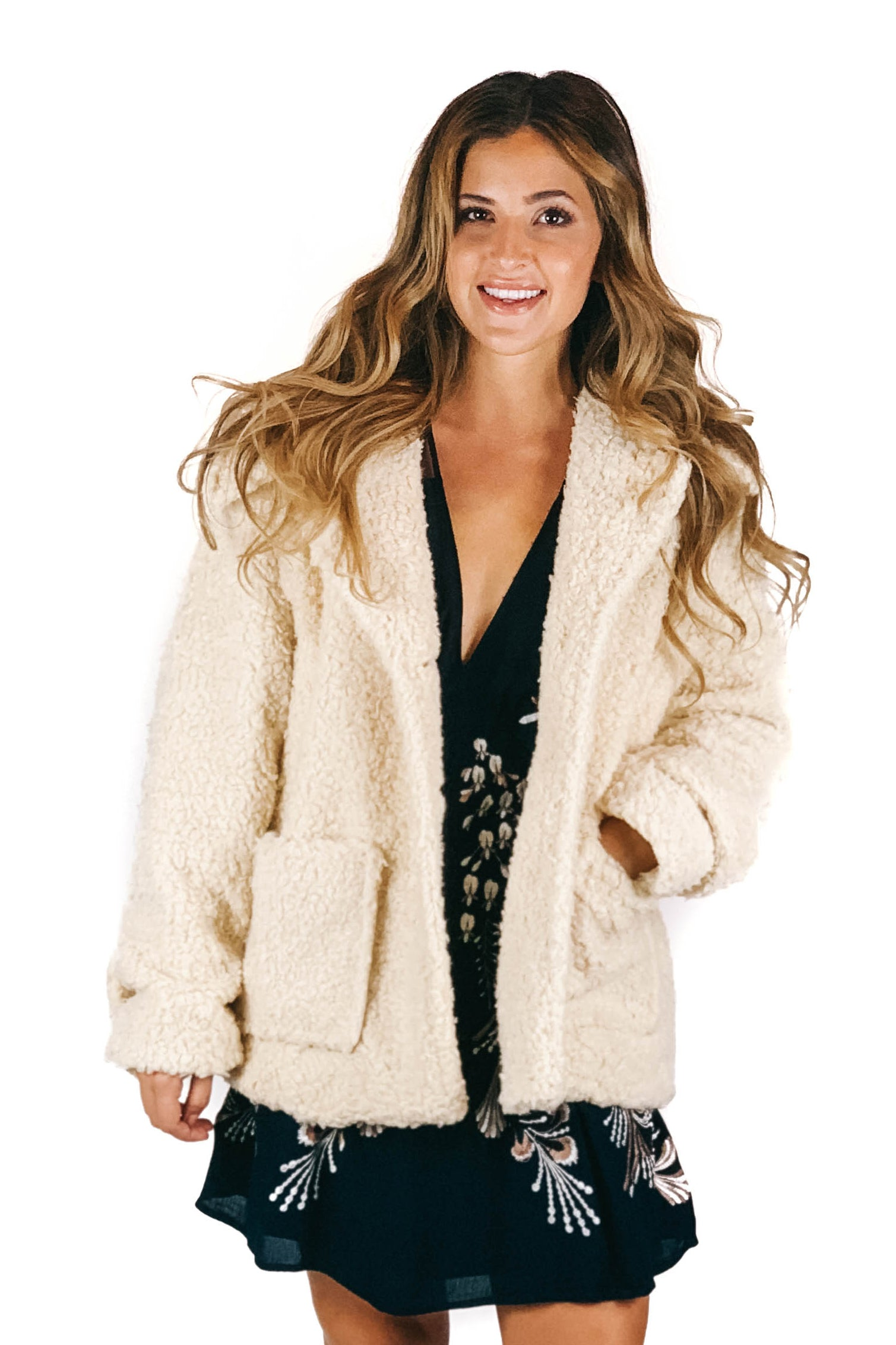 Ivory So Soft Cozy Peacoat