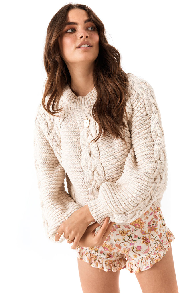Sand The Brunch Cable Knit Jumper - front