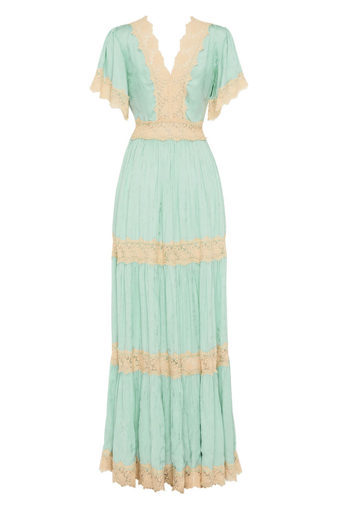Spell & The Gypsy Collective Seafoam Ocean Gown -  product back