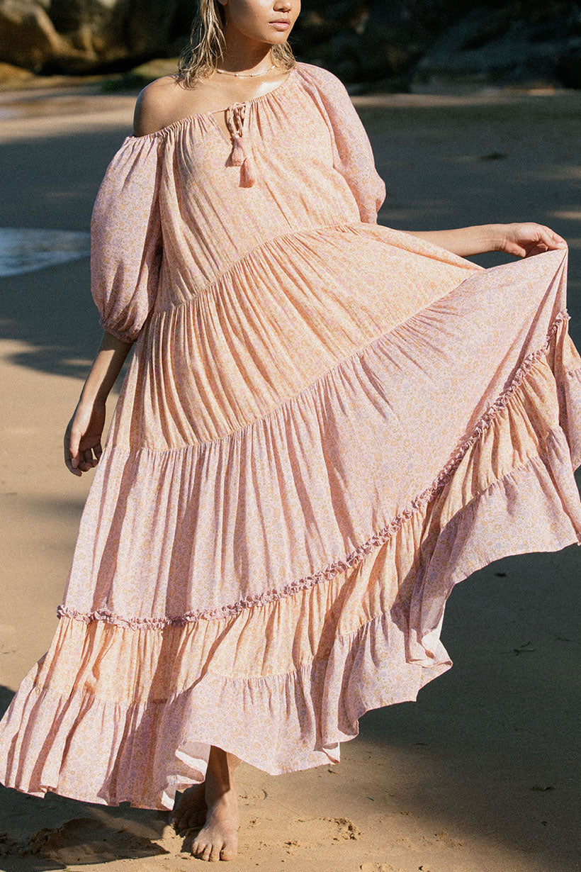 Peach Rae Gown - front