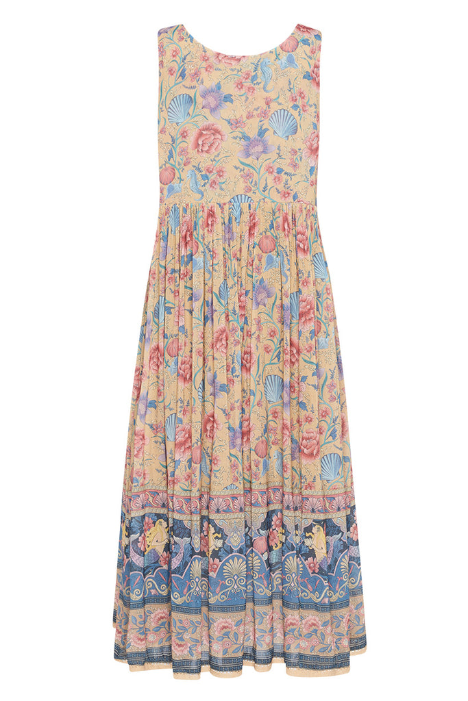 Spell & The Gypsy Collective Opal Seashell Babydoll Midi Dress - product back
