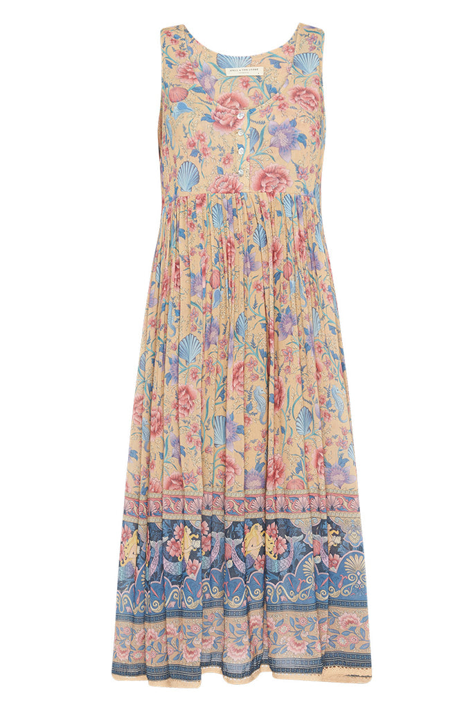 Spell & The Gypsy Collective Opal Seashell Babydoll Midi Dress - product front
