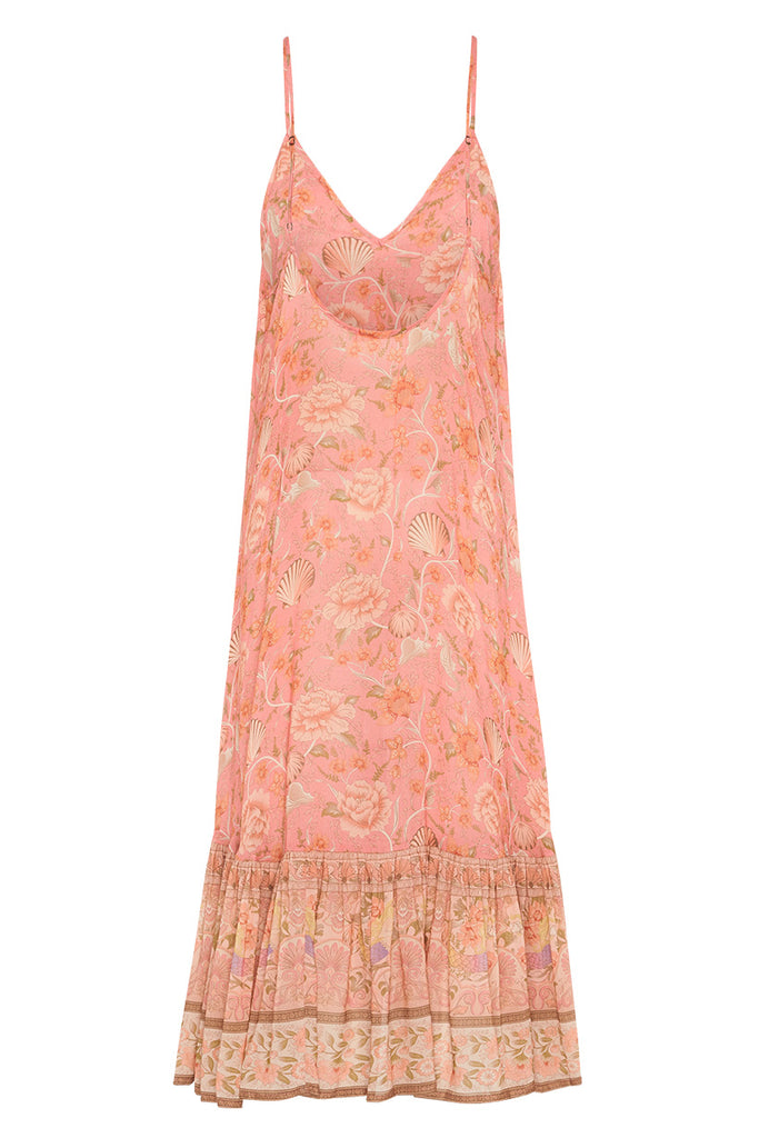Spell & The Gypsy Collective Coral Seashell Strappy Midi Dress - product back