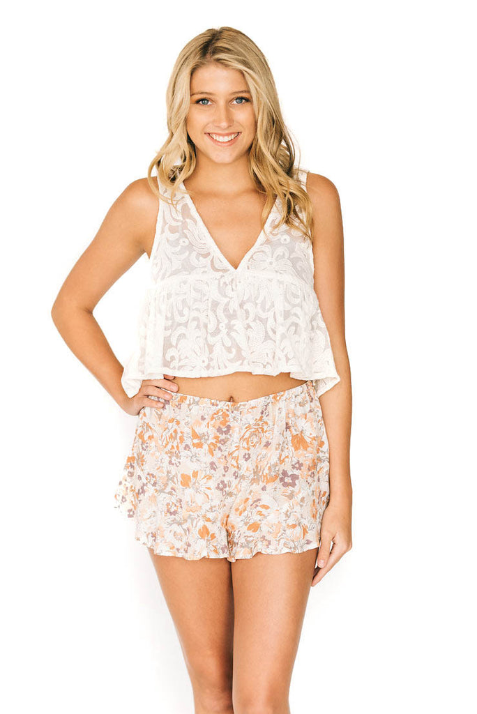 Vanilla Stay Golden Lace Tank