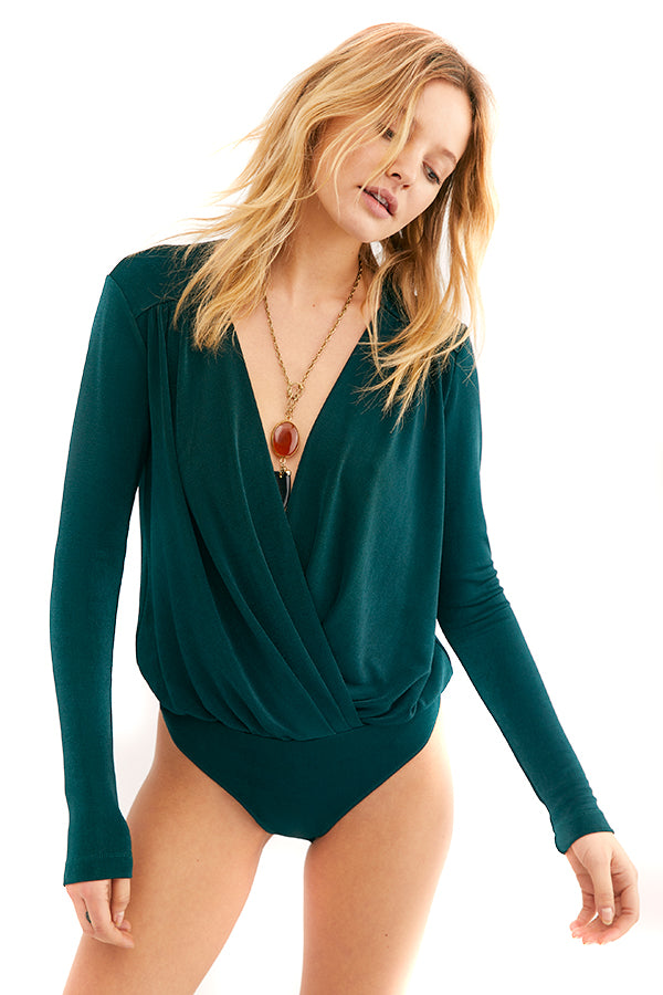 Free People Pine Turnt Bodysuit