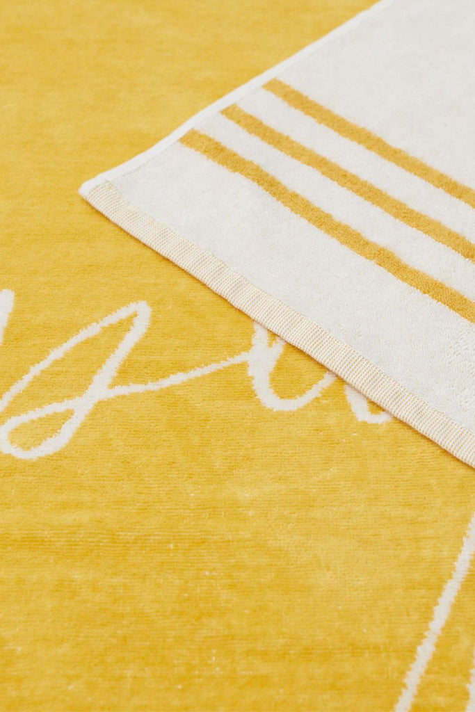 Tuscan Yellow Signature Towel - closeup