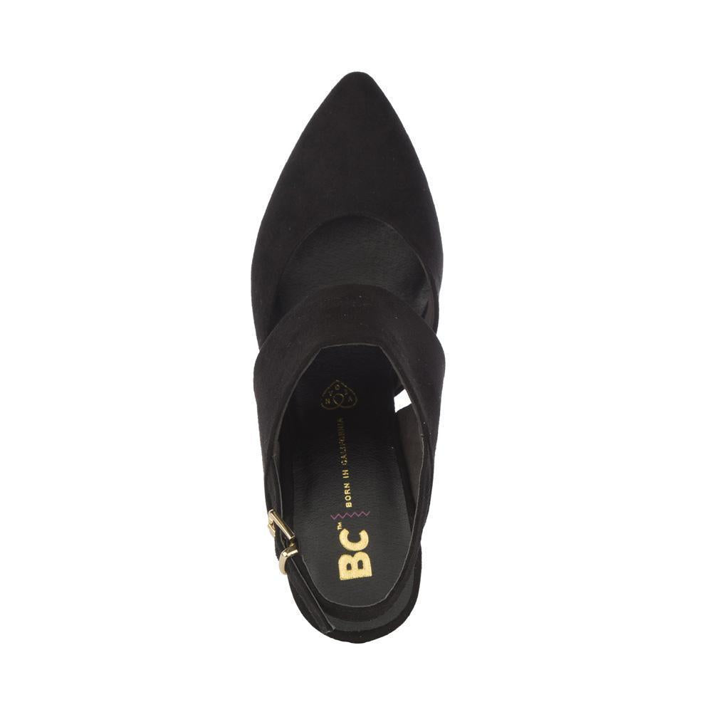 bc footwear black vegan suede heel top photo