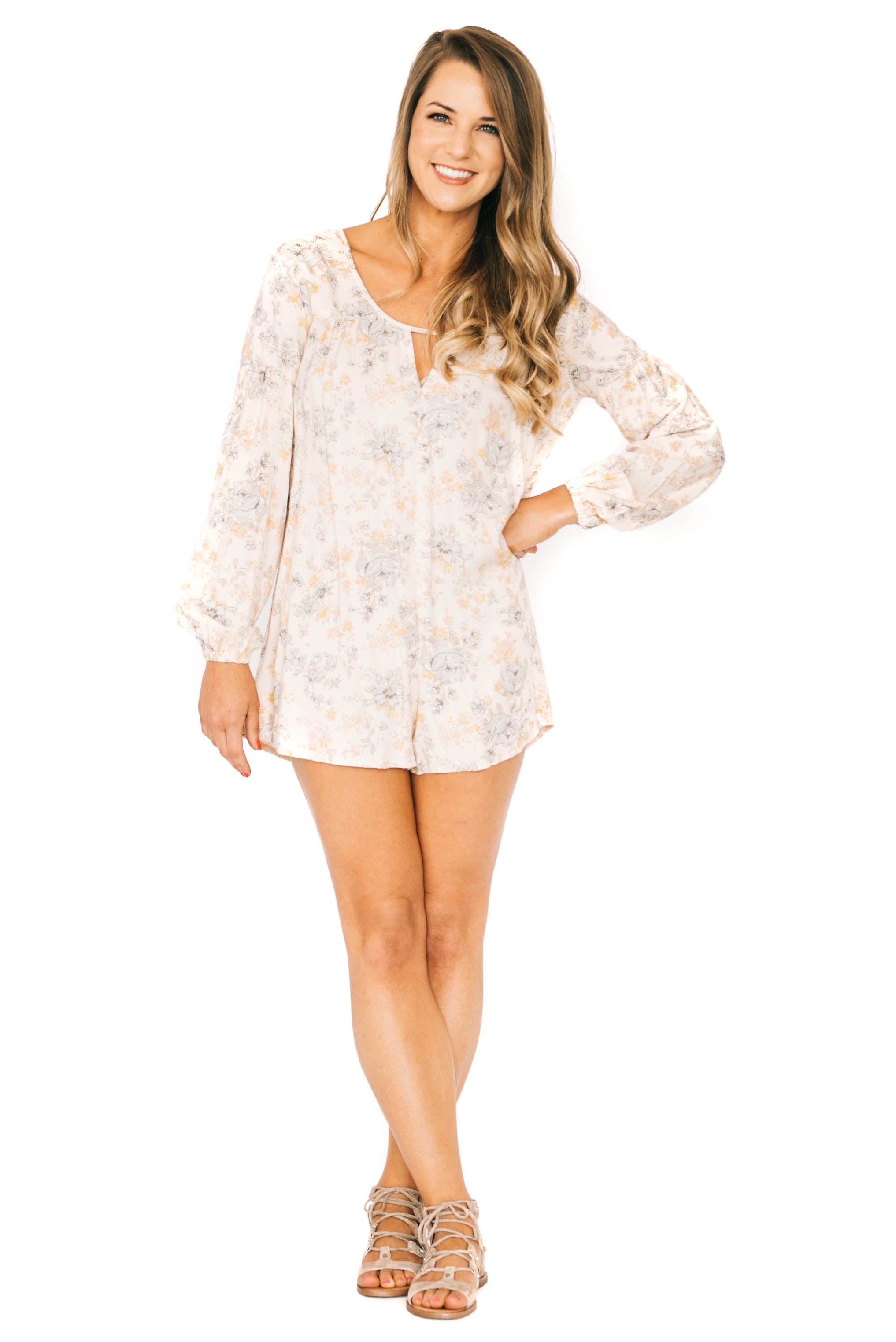 Wallflower Rose Romper