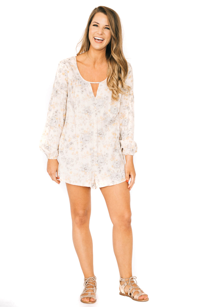 saltwater luxe long sleeve wallflower romper