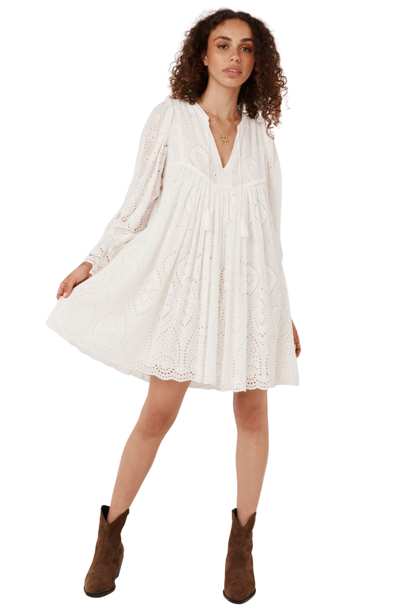 White Dylan Smock Dress