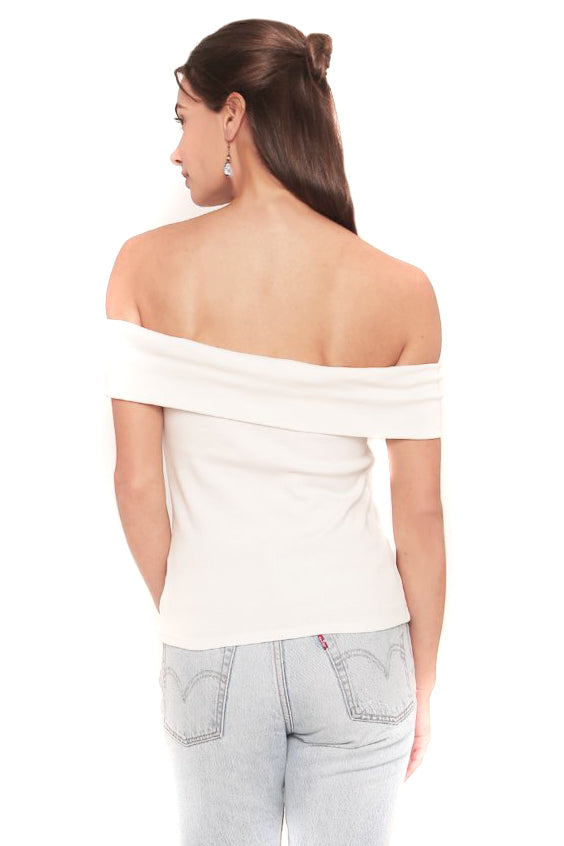White Maverick Top Back