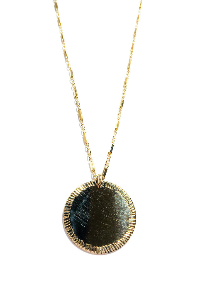 Paradigm Design Gold Ray Coin Necklace