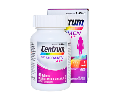 CENTRUM For Women 50+ 90 Tablets - 365 Health Limited