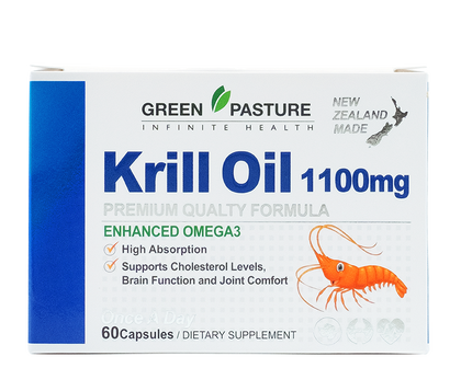 Green Pasture Krill oil 1100mg 60Capsules - 365 Health Limited