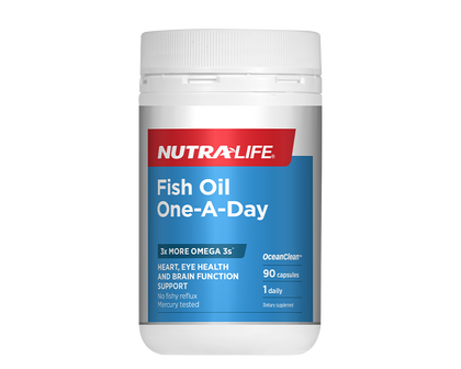 Nutralife Fish Oil One-A-Day 90 capsules - 365 Health Limited