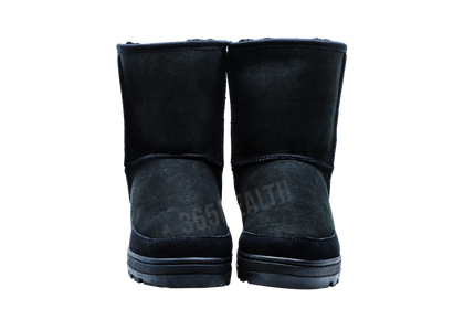 Shepherd Sheepskin Wool Half Boots /Black - 365 Health Limited