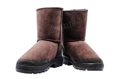 Shepherd Sheepskin Wool Half Boots /Dark brown - 365 Health Limited