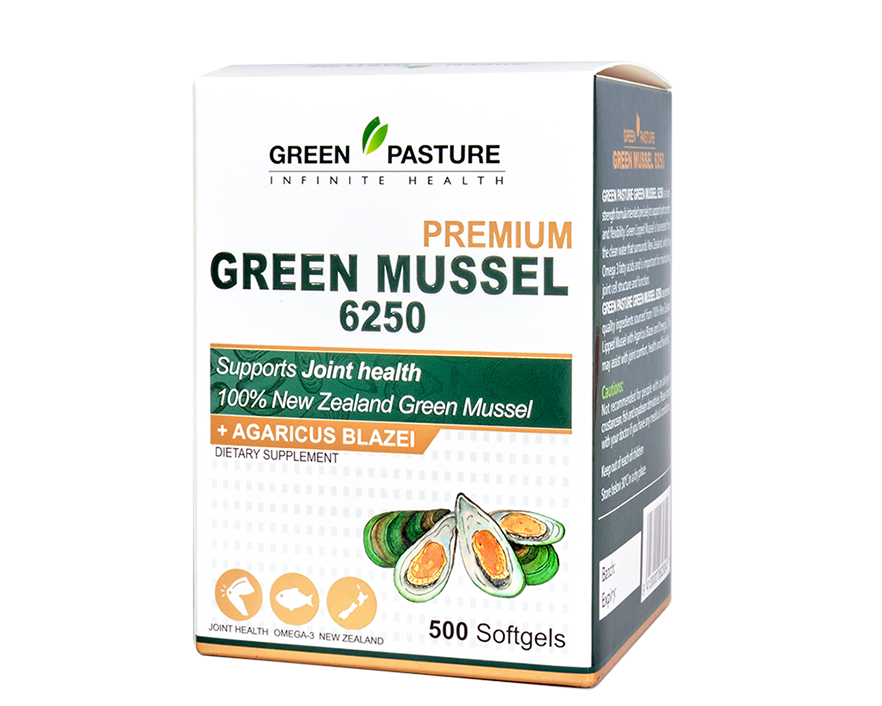 Green Pasture Green Mussel 6250 500 Softgels