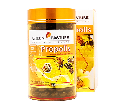 Green Pasture Propolis 500 500 Capsules - 365 Health Limited