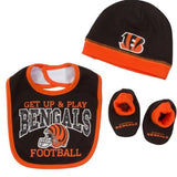 Cincinnati Bengals Baby Boy Accessories, 3pc Set