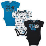 Panthers Baby Boys 3-Pack Short Sleeve Bodysuit