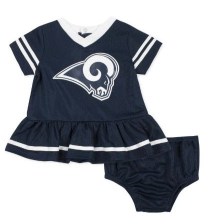 Baby Girls Los Angeles Rams Cheerleader Dress and Panty Set