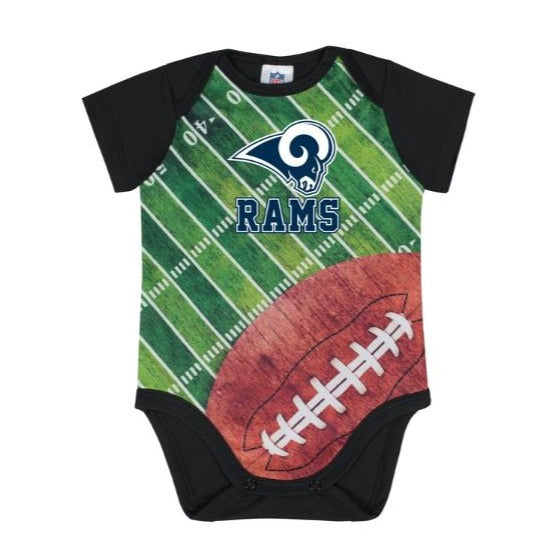 LA Rams Baby Boy Short Sleeve Bodysuit