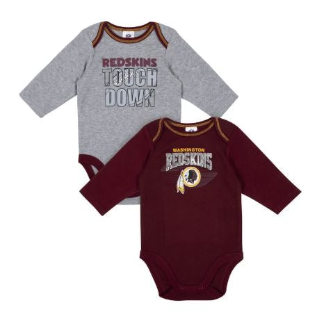 Baby Boys Washington Redskins Long Sleeve Bodysuit, 2-pack