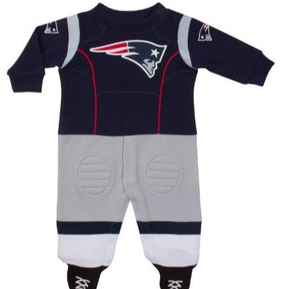 New England Patriots Baby Boys Footed Footysuit