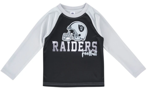 Oakland Raiders Toddler Boys' Long Sleeve Tee
