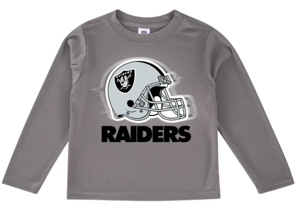 Oakland Raiders Toddler Boys' Long Sleeve Logo Tee