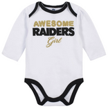 Baby Girls Oakland Raiders 3-Piece Bodysuit, Pant, and Cap Set