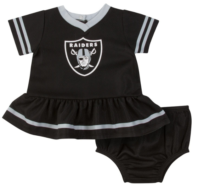 Baby Girls Oakland Raiders Cheerleader Dress and Panty Set