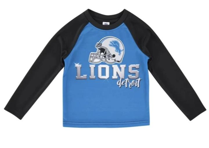 Detroit Lions Toddler Boys' Long Sleeve Tee